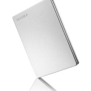 Toshiba 1TB CANVIO® SLIM PORTABLE Silver Metallic HARD DRIVE STORAGE. 3 Years Warranty (HDTD310AS3DA) (LS)