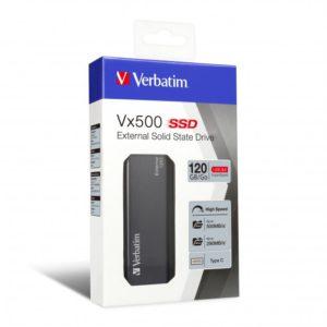 Verbatim Vx500 EXTERNAL SSD Drive 120GB USB3.1