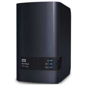 Western Digital WD My Cloud EX2 Ultra 0TB 2 Bay NAS 1.3GHz Dual-Core 1GB DDR3 RAID 2xUSB3.0 GbE LAN Auto Backup Sync 256 AES Encrypt Windows Mac