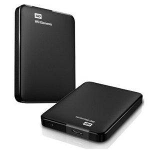 Western Digital WD Elements Portable 2TB USB 3.0 2.5' External Hard Drive - Slim Light Durable Shock Proof Black Plug & Play NTFS for Windows 10/8.1/7