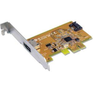 Sunix SATA1616 PCI Express SATA 3.0 Card 6Gbit/s - 1 Internal/1 External Port/2-Port PCI Express RIAD Controller