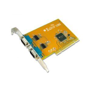 Sunix COMCARD-2P SER5037A Dual Port Serial IO Card PCI Card; speeds up to 115.2Kbps; Support Microsoft Windows