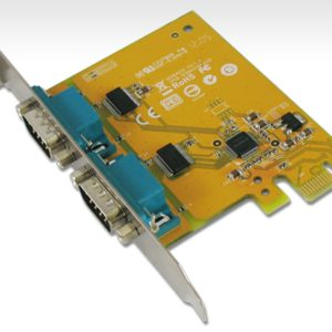 Sunix PCIE 2 Port Serial Card Full Height Expansion RS-232 - It is compatible with PCI Express x1