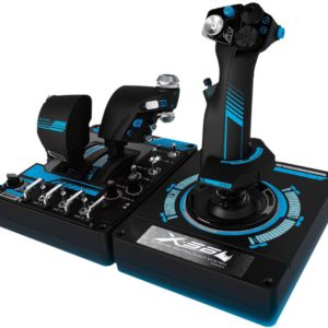 Logitech G X56 H.O.T.A.S. RGB Throttle & Stick Simulation Controller 6 DOF Pitch Roll Yaw Back Forward Up Down Left Right 4 Springs 189+ Programable