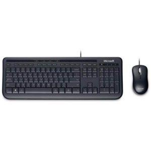 Microsoft Wired Desktop 600 K&M USB Black Mouse & Keyboard Combo - Spill Resistant