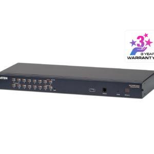 Aten Rackmount KVM Switch 16 Port Multi-Interface Cat 5