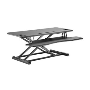 Brateck Gas Spring Sit Stand Desk Converter (950x615x110~505mm)with Keyboard Tray Deck(Standard MDF Board Surface)