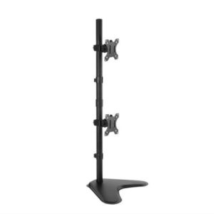 Brateck Dual Screens Economical Double Joint Articulating Steel Monitor Stand Fit Most 13'-32' Monitors Up to 8kg per screen VESA 75x75/100x100