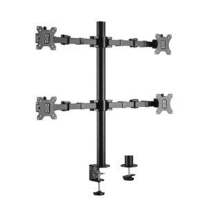 Brateck Quad Monitors Affordable Steel Articulating Monitor Arm Fit Most 17'-32' Monitors Up to 9kg per screen VESA 75x75/100x100