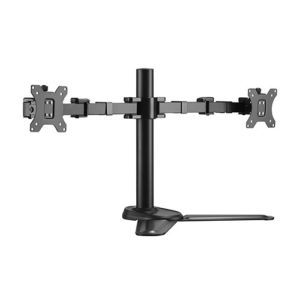 Brateck Dual Monitors Affordable Steel Articulating Monitor Stand Fit Most 17'-32' Monitors Up to 9kg per screen VESA 75x75/100x100