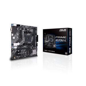 ASUS PRIME A520M-K N Micro ATX AMD Ryzen AM4 Motherboard with M.2 support