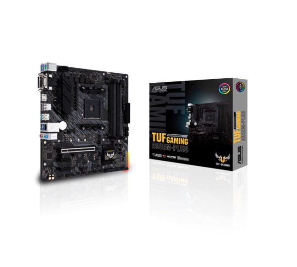 ASUS TUF GAMING A520M-PLUS AMD A520 (Ryzen AM4) micro ATX motherboard with M.2 support