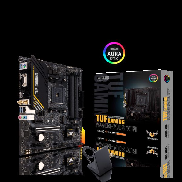 ASUS TUF GAMING A520M-PLUS WIFI AMD A520 (Ryzen AM4) Micro ATX Motherboard with M.2 support