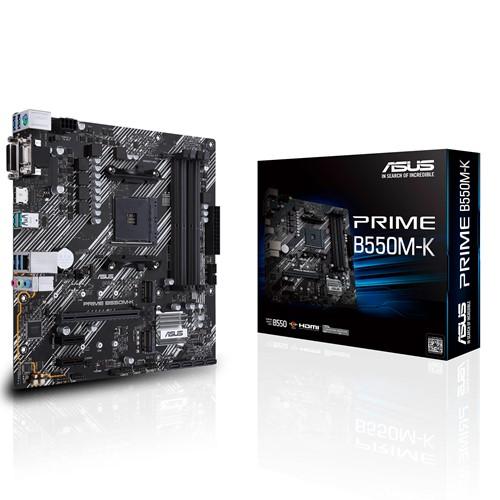 ASUS AMD B550 PRIME B550M-K (Ryzen AM4) mATX MB