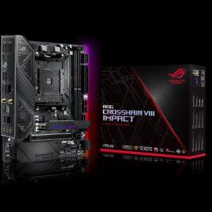 ASUS ROG CROSSHAIR VIII IMPACT AMD AM4 X570 Mini-DTX Enthusiast Gaming Motherboard