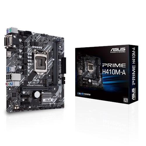 ASUS PRIME H410M-A mATX Motherboard 10th Gen LGA1200 DDR4 2933MHz 1xM.2 4xSATA HDMI DVI-D D-Sub