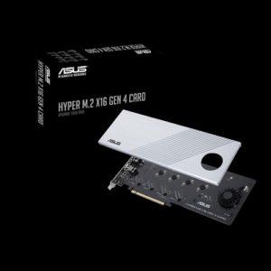 ASUS HYPER M.2 X16 GEN 4 CARD Supports 4xPCIE3.0 4xM2