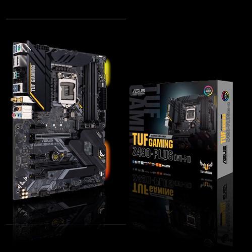 ASUS TUF GAMING Z490-PLUS (WI-FI) Intel Z490 10th Gen LGA1200 ATX MB DDR4 1xDP 1xHDMI 6xUSB3.2 PCIE3.0x16 6xSATA 2xM.2