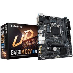 Gigabyte B460M D2V mATX Motherboard 2xDDR4 10th Gen LGA1200 1xM.2 6xSATA RAID LAN (10/100/1000 Mbit) DVI-D 2xPCIE 6xUSB3.2