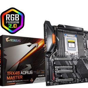 Gigabyte AMD TRX40 Aorus Master E-ATX MB sTRX40 AMD ThreadRipper 3 8xDDR4 5xPCIe 3xM.2 RAID Intel GbE LAN WiFi BT 8xSATA CF/SLI 2xUSB-C RGB2 (LS)