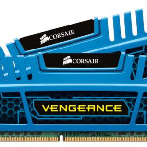 Corsair Vengeance 8GB (2x4GB) DDR3 1600MHz C9 Desktop Gaming Memory Blue