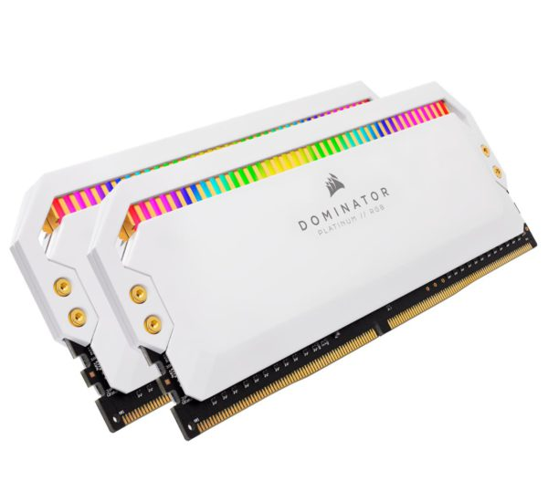 Corsair Dominator Platinum RGB 16GB (2x8GB) DDR4 3200MHz C16 1.35V UDIMM XMP 2.0 White Heatspreaders Desktop PC Gaming Memory