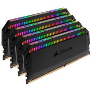 Corsair Dominator Platinum RGB 32GB (4x8GB) DDR4 3200MHz CL16 DIMM Unbuffered XMP 2.0 Base SPD@2666 Black Heatspreaders 1.35V AMD Ryzen