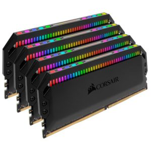 Corsair Dominator Platinum RGB 32GB (4x8GB) DDR4 3600MHz CL18 DIMM Unbuffered 18-19-19-39 XMP 2.0 Black Heatspreaders 1.35V Desktop PC Gaming Memory
