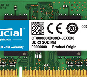 Crucial 8GB (1x8GB) DDR3L SODIMM 1600MHz 1.35V / 1.5V Dual Voltage Notebook Laptop Memory RAM ~MENB8GBDDR3-16L KVR16LS11/8