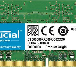 Crucial 4GB (1x4GB) DDR4 SODIMM 2400MHz CL17 Single Stick Notebook Laptop Memory RAM