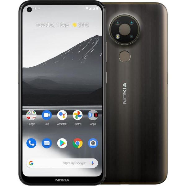 Nokia 3.4 64GB Charcoal - 6.3' HD+ Punch Hole Display