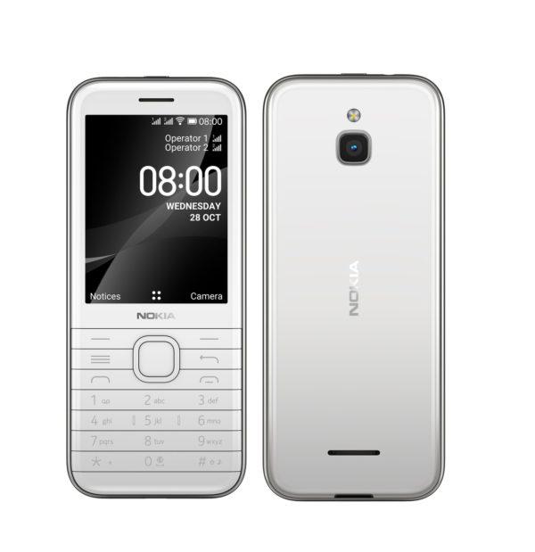 Nokia 8000 4G White 2.8' Screen