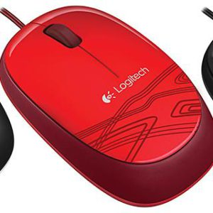 Logitech M105 Corded Optical Mouse Black - High-definition optical tracking Full-size comfort Ambidextrous design(L)