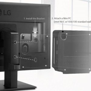 LG VESA Mount Bracket - VESA 75x75mm or 100x100mm Intel NUC / Brix / Others only suitable for 24BK550Y and 27BK550Y only