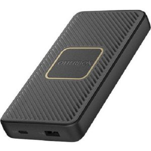 OtterBox 10K mAh Power Bank + Wireless Charger - USB-A & C PD 18W +10W Twilight - Black - Supports wireless charging through 10W Qi Wireless output
