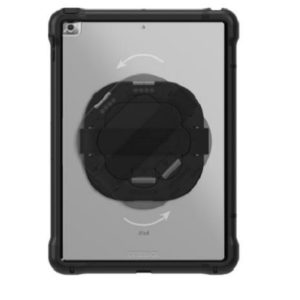 OtterBox Unlimited Series Pro Pack With Kickstand & Handstrap + Screen Protector For iPad 7th / 8th Gen - Black