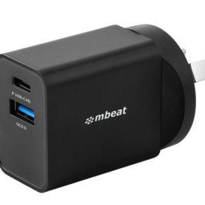 mbeat® Gorilla Power Dual Port 18W USB-C PD & QC 3.0 Charger