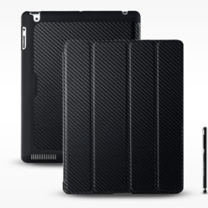 Coolermaster  iPad 3 Wakeup Black Folio Black Carbon with stylus (LS)