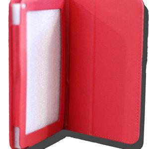 LeaderTab 7.9 Folio Case Red Faux Leather. Camera hole rear