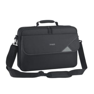 Targus 15.6' Intellect Bag Clamshell Laptop Case with Padded Laptop Compartment/ Laptop/Notebook Bag - Black