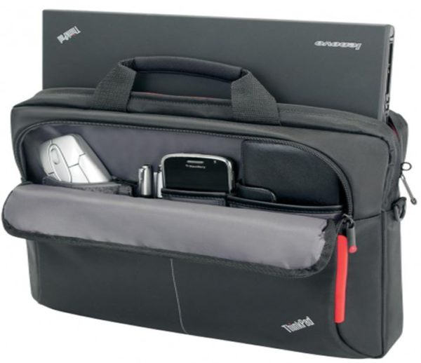 LENOVO 15.6' Business Topload Notebook Laptop Bag Carry Case Black Colour Smooth Carry Handles Shoulder Strap Light Weight Durable fit 16' 15' 14' 13'