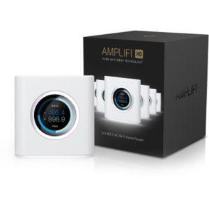 Ubiquiti AmpliFi High Density HD Home Wi-Fi Router - 802.11ac 3x3MIMO Max Coverage 930 sqm - LCD Screen - Gigabit Ethernet - Free AmpliFi VPN
