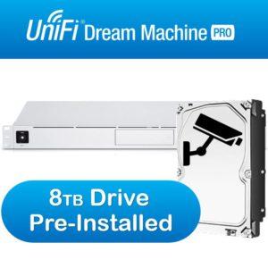 Ubiquiti UniFi Dream Machine Pro Enterprise Security Gateway & Network Appliance – Includes Surveillance 8TB HDD Pre-Installed