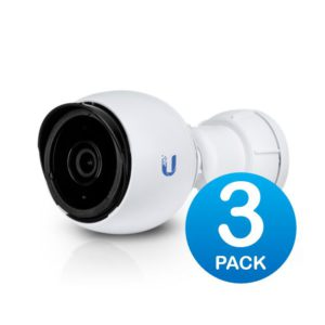 Ubiquiti UniFi Video Camera UVC-G4-BULLET 3 Pack Infrared IR 1440p Video 24 FPS- 802.3af is embedded