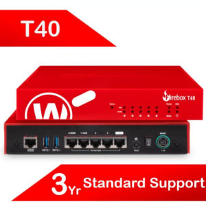 WatchGuard Firebox T40 with 3-yr Standard Support (AU) - Only available to WGOne Silver/Gold Partners