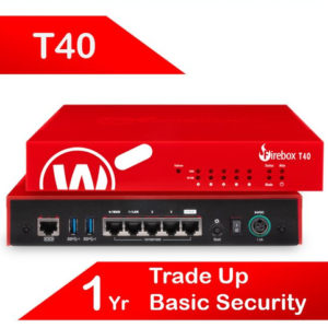 Trade Up to WatchGuard Firebox T40 with 1-yr Basic Security Suite (AU)
