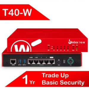 Trade Up to WatchGuard Firebox T40-W with 1-yr Basic Security Suite (AU)