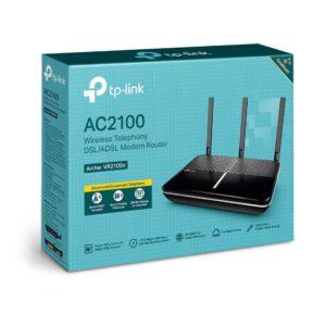 TP-Link Archer VR2100v AC2100 Wireless MU-MIMO VDSL/ADSL Telephony Modem Router VDSL2 Profile 35b Up To 1733Mbps