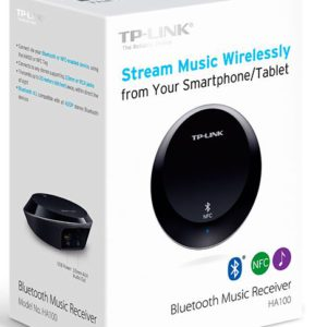 TP-Link HA100 Bluetooth NFC Music Audio Receiver Transmitter up to 20 meters 3.5mm RCA 5V 1A USB Power for iPhone iPad Android Windows Smartphone