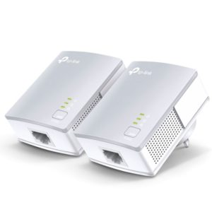 TP-Link TL-PA4010KIT AV600 Powerline Ethernet Adapter Starter Kit 600Mbps HomePlug AV 1xLAN Port 300m Range Plug & Play Mini Size
